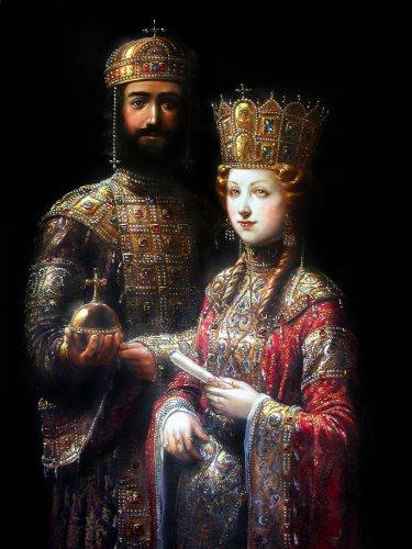 II. (Komnénosz) János bizánci császár és Szent Piroska, Irén (Eiréne) bizánci császárné.